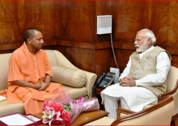 Yogi Adityanath with PM Modi- India Tv