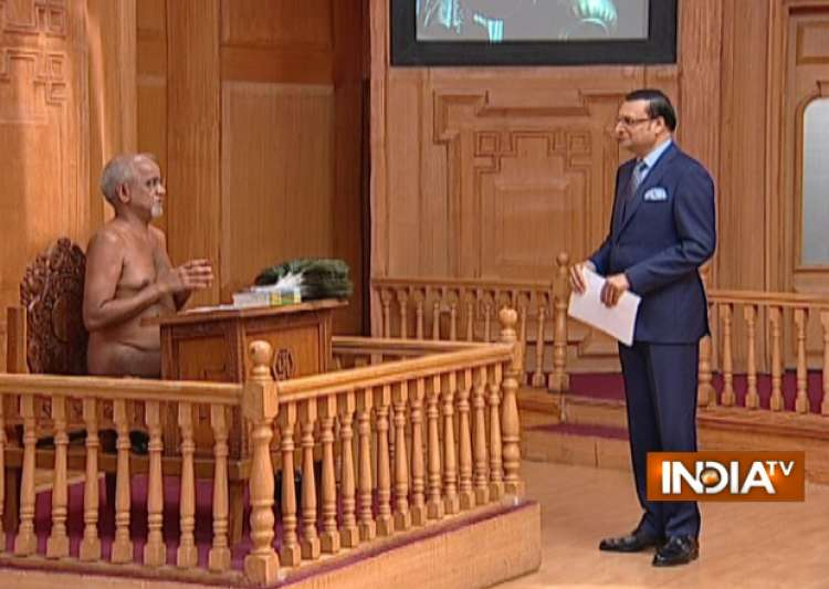 Jain Muni Tarun Sagar in Aap Ki Adalat- India Tv