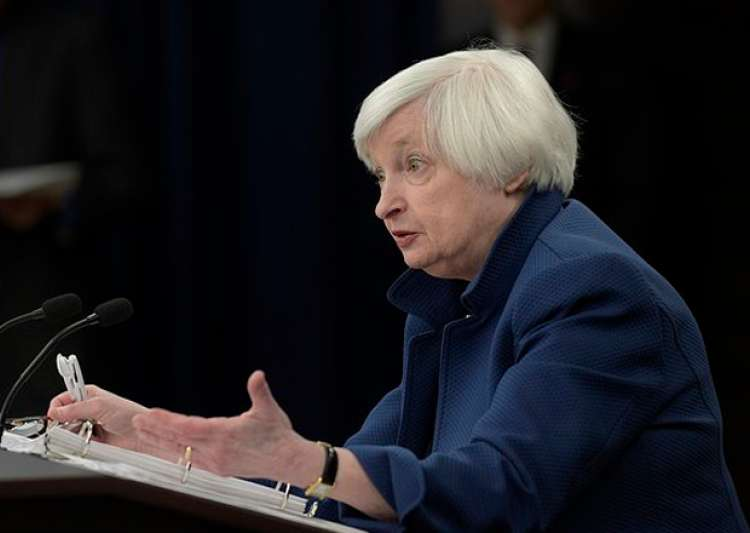 Federal Reserve Chair Janet Yellen speaks during a news