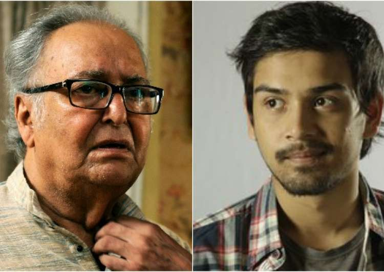 Soumitra Chatterjee and grandson - India Tv