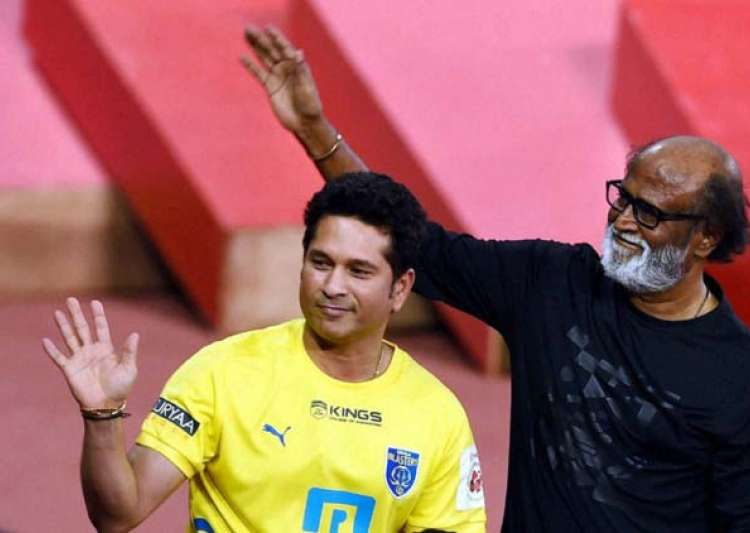 Rajinikanth gives best wishes to Sachin Tendulkar for his- India Tv