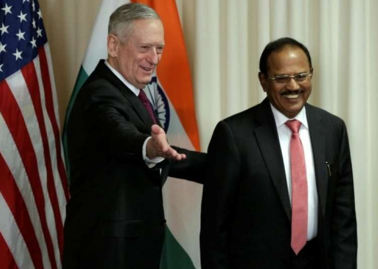 Ajit Doval, James Mattis- India Tv