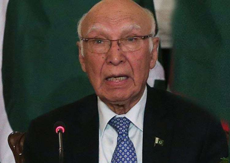 File pic of Pakistan's diplomat Aziz - India Tv