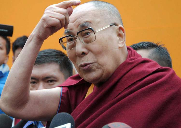 Dalai Lama interacting with media after a spiritual- India Tv