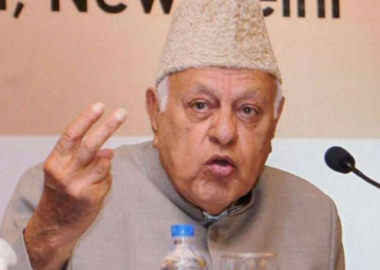 File pic of National Conference president Farooq Abdullah- India Tv
