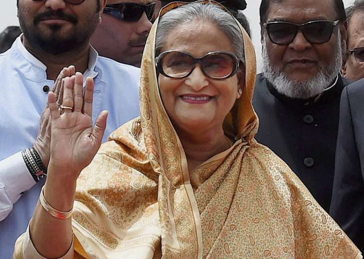Bangladesh PM Sheikh Hasina arrives at IGI Airport in New- India Tv