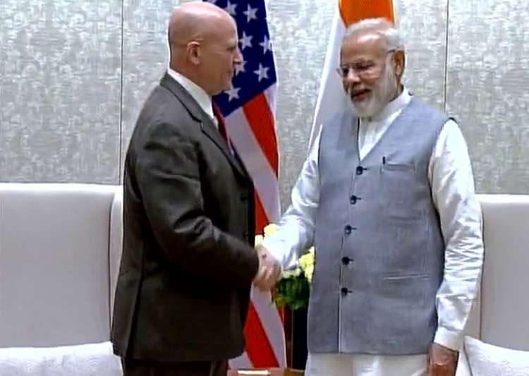 US NSA McMaster meets PM Modi in New Delhi- India Tv