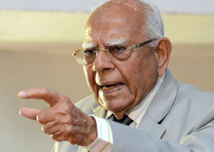 File pic of Ram Jethmalani- India Tv