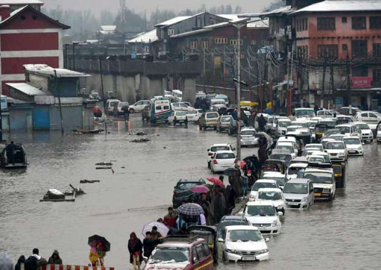 Flood in Srinagar- India Tv