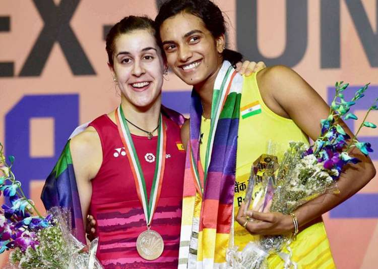 File pic of Carolina Marin and PV Sindhu- India Tv