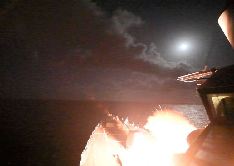 USS Porter (DDG 78) launches a tomahawk land attack missile- India Tv