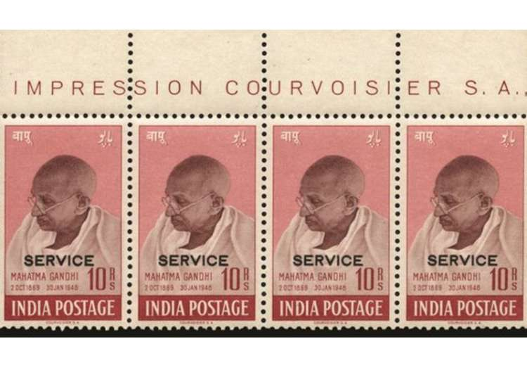 Mahatma Gandhi stamps sold at 500000 pounds at auction in UK