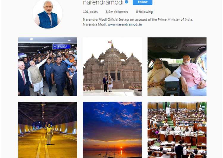 Modi world's most followed leader on Instagram