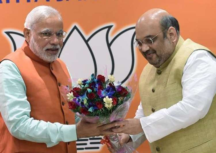 File pic of PM Modi and BJP president Amit Shah