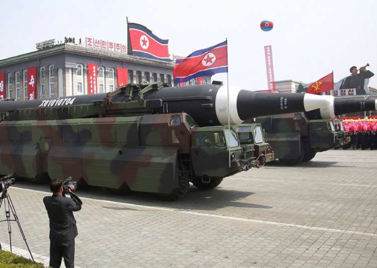 North Korea's Submarine-Launched Ballistic Missiles Displayed at Military Parade