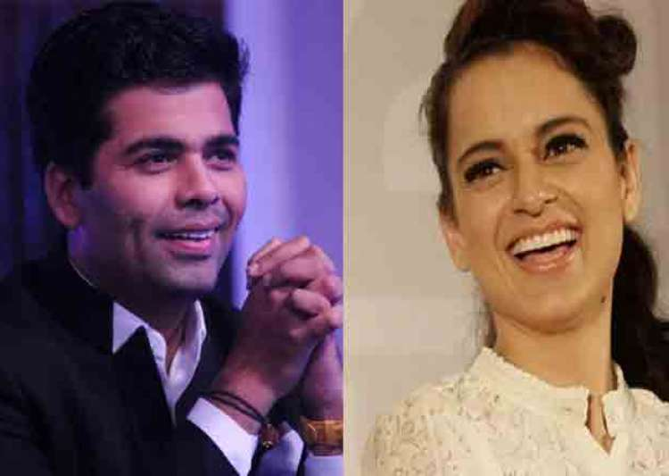 Karan Johar and Kangana Ranaut- India Tv