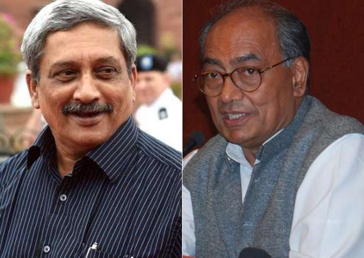 File pic of Manohar Parrikar and Digvijaya Singh- India Tv