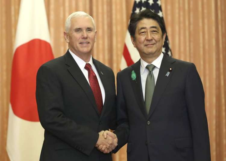 Mike Pence meets Shinzo Abe in Tokyo - India Tv
