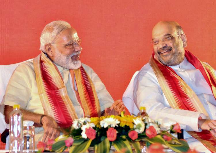 PM Modi withBJP president Amit Shah at National executive- India Tv
