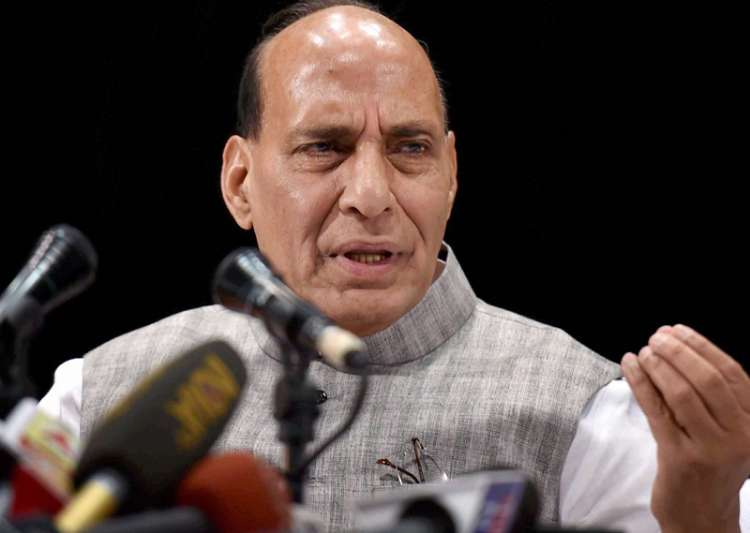 Rajnath Singh interacts with the media in Kolkata on Friday- India Tv