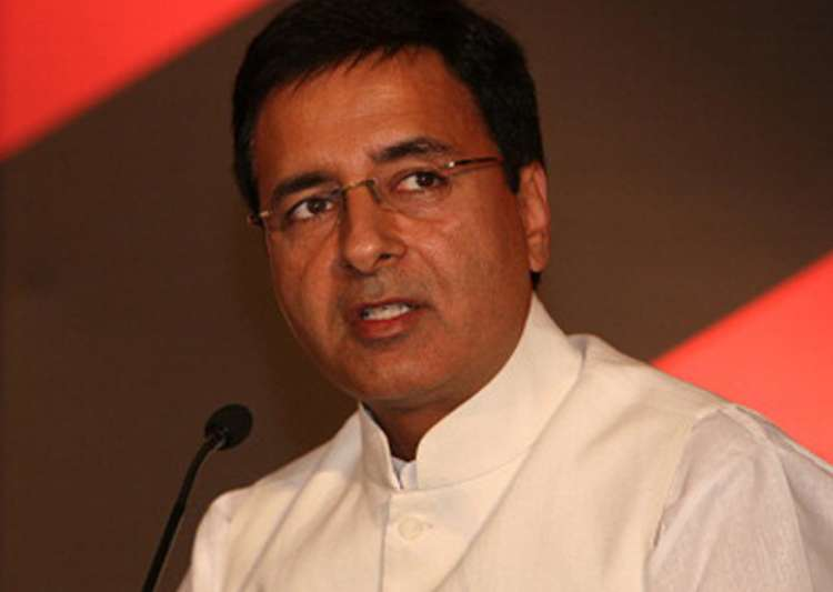 File pic of Congress spokesperson Randeep Singh Surjewala- India Tv