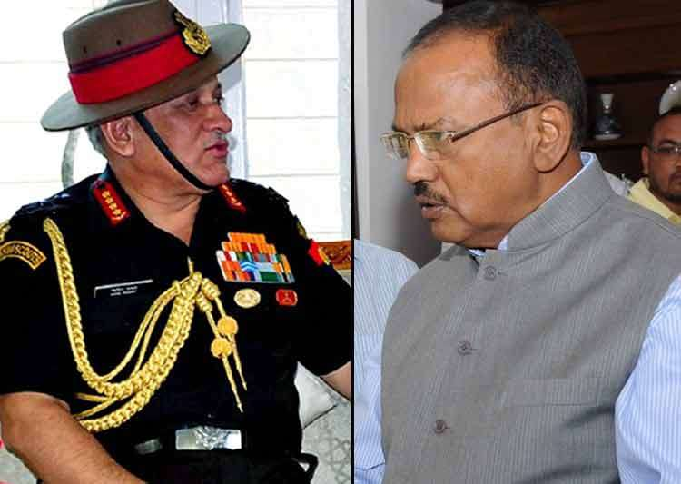 Army Chief meets NSA Ajit Doval to discuss J-K situation - India Tv