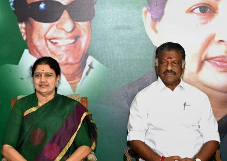 File pic of VK Sasikala and OPS