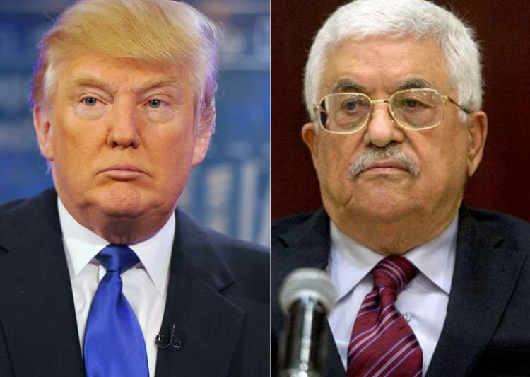 File pic of Donald Trump and Mahmud Abbas- India Tv