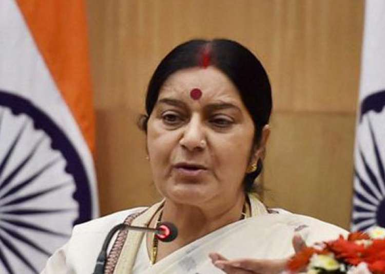 Sushma Swaraj, Indian Embassy, Sweden, Stockholm- India Tv
