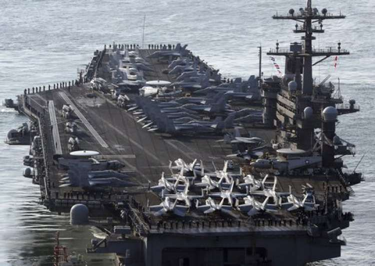 USS Carl Vinson aircraft carrier - India Tv