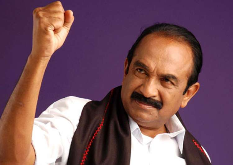 Vaiko sent to 15-day judicial custody for his 2009 speech- India Tv