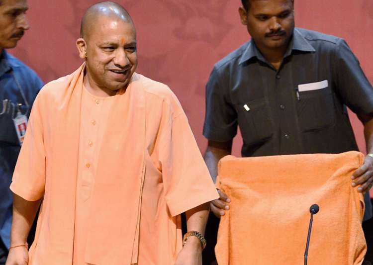 Yogi Adityanath at a programme in Lucknow on Friday- India Tv