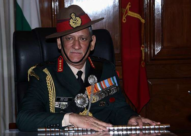 File pic of Army Chief Gen Bipin Rawat