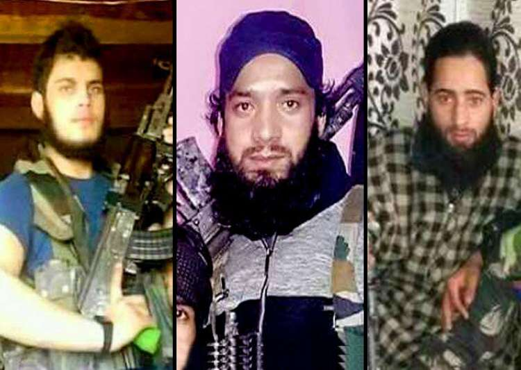 Posters of 3 terrorists involved in killing of young- India Tv