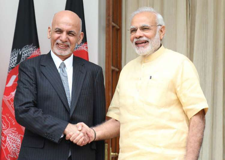 File pic - PM Narendra Modi and Afghan President Ashraf- India Tv