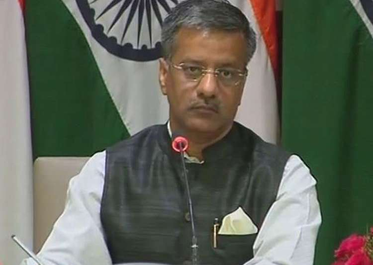 File pic of MEA spokesperson Gopal Baglay- India Tv