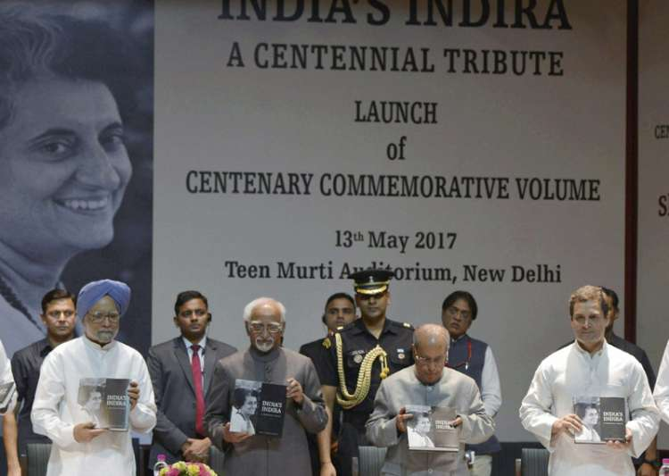 Pranab Mukherjee during the launch of a commemorative- India Tv