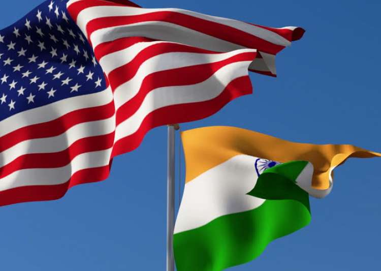 Flags of India and US- India Tv