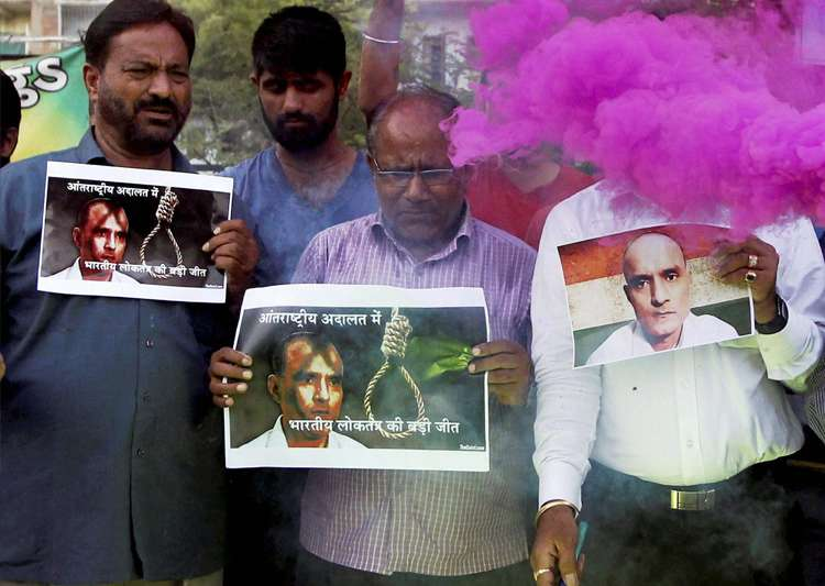 People celebrate with crackers ICJ verdict on Jadhav in- India Tv