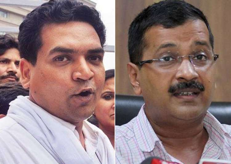 File pic of Kapil Mishra and Arvind Kejriwal - India Tv
