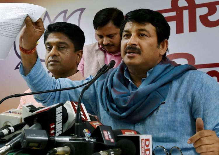 Delhi BJP Manoj Tiwari speaks to media in New Delhi