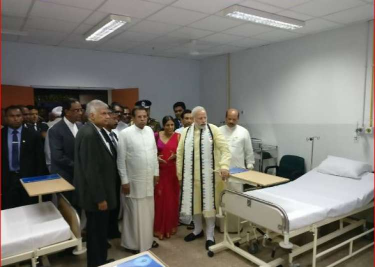 PM Modi inaugurates hospital in Sri Lanka