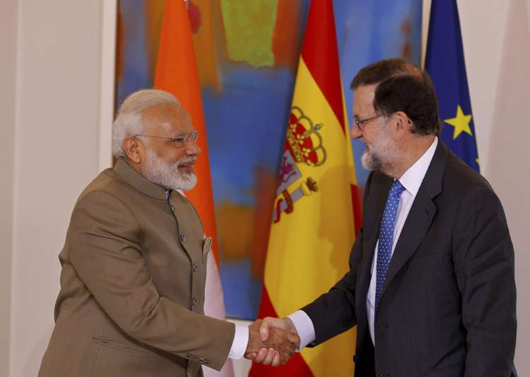 Modi meets Spanish President in Madrid