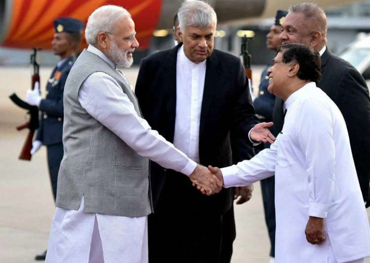 PM Modi received by his Sri Lankan counterpart Ranil- India Tv