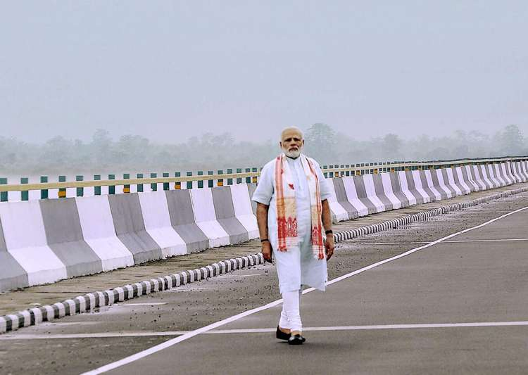 File pic - PM Modi at the newly inaugurated Dhola-Sadia- India Tv