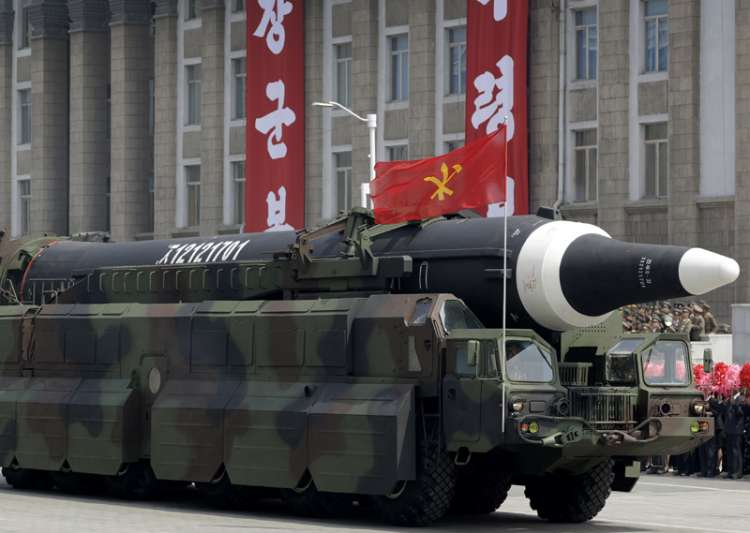 N Korea's Hwasong-10 missile during a military parade- India Tv