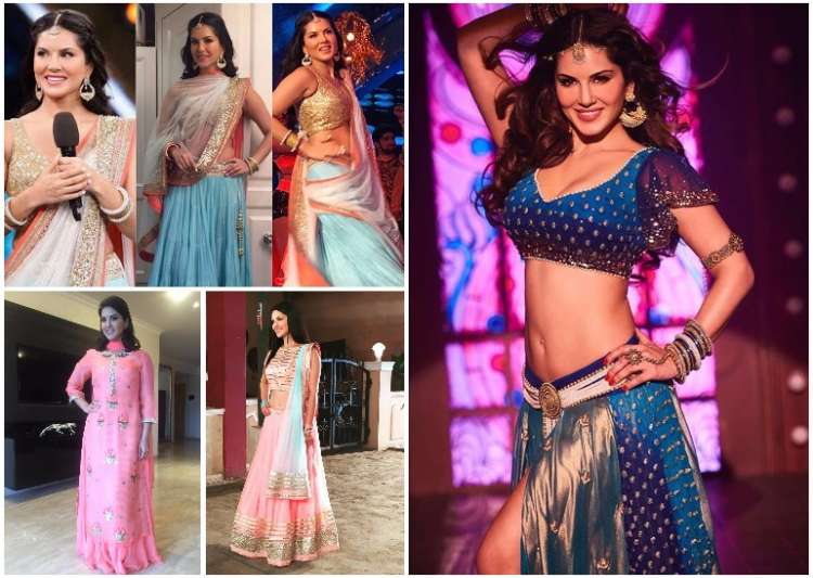 sunny leone in traditional dresses- India Tv