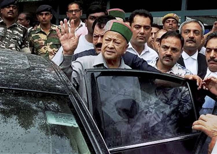 Himachal Pradesh CM Virbhadra Singh at Patiala house court