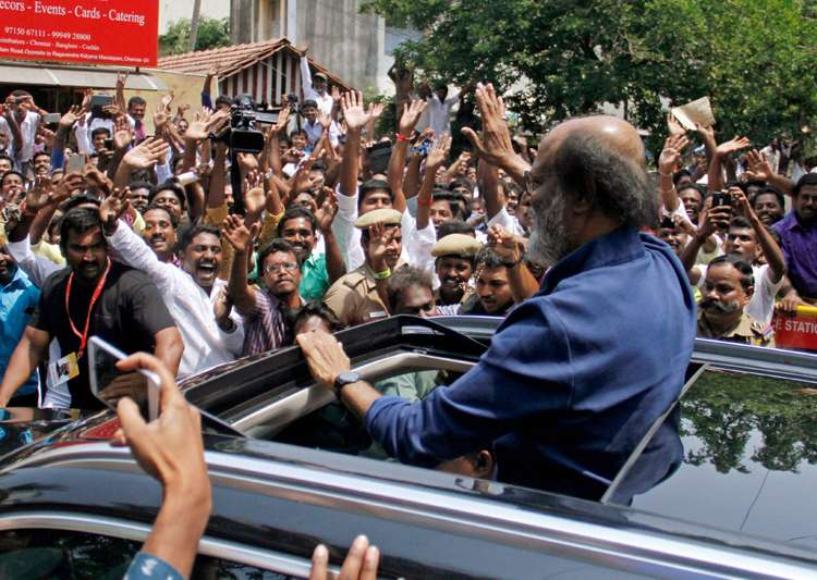 Tamil outfit stages protest against Rajinikanth's entry into politics