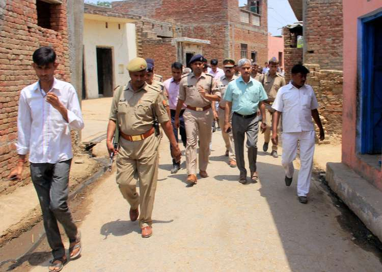 Administrative officials and the police patrol in the- India Tv